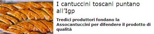 I cantuccini toscani puntano all'Igp