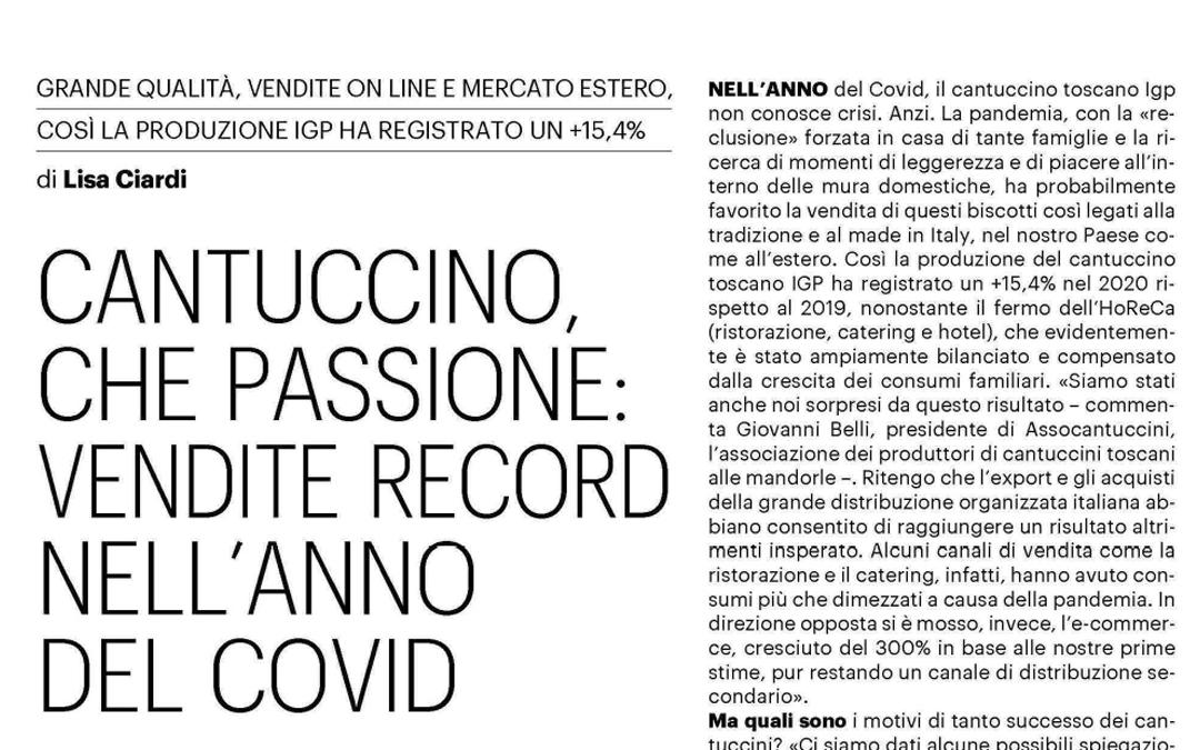 Cantuccini che passione: vendite record nell'anno del Covid