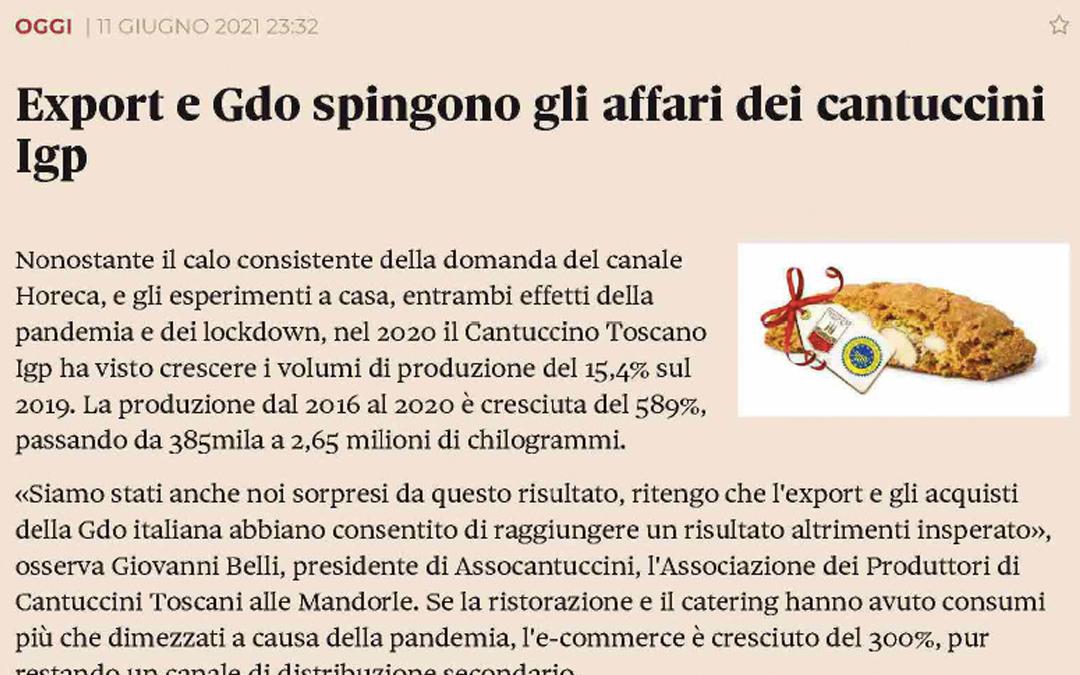 Export e GDO spingono gli affari dei cantuccini IGP